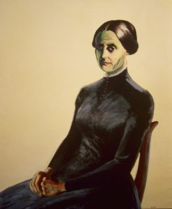 Portrit of Susan B. Anthony, the founder of the Women's Movement. Acrylic painting, 72X60 inches by Leonard Gerwick