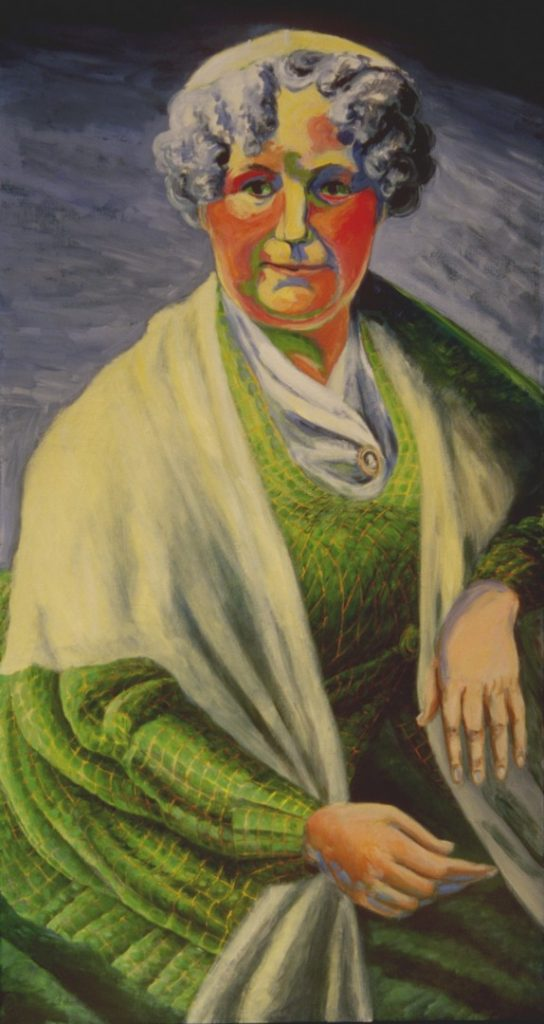 Colorful portrait of Founder of the Women's Movement by Leonard Gerwick