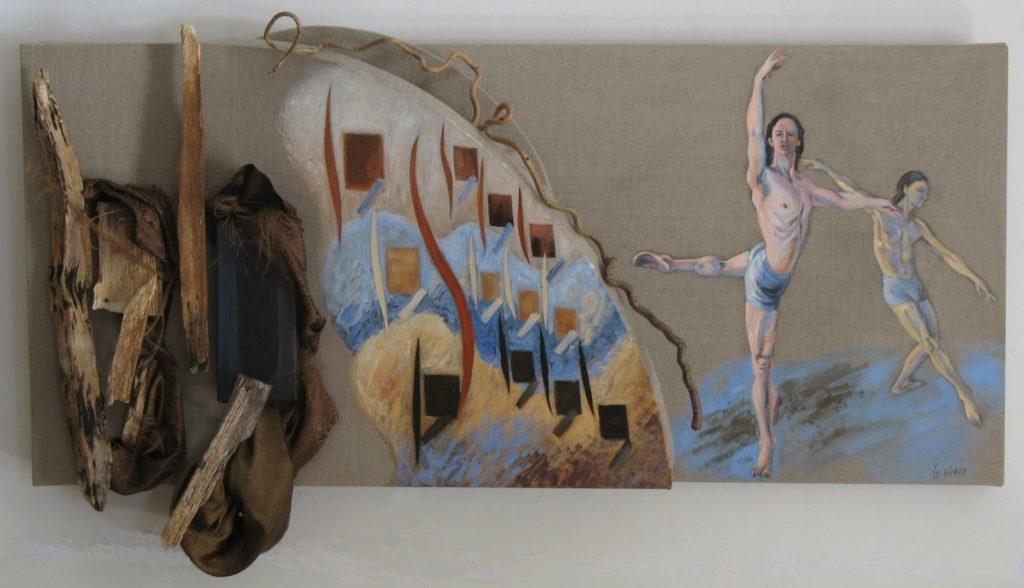 Rhythm #1- Wood, Collage and  Dance