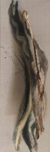 Wood that looks like a seal and acrylic like water on canvas, 36X12 inches by Leonard Gerwick