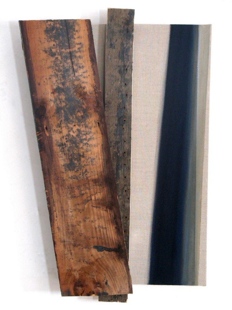 Rhythm #36- Diagonal Wood and Paint
