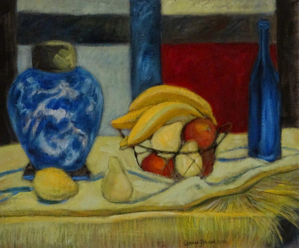 Ginger Jar, Fruit and Blue Bottle