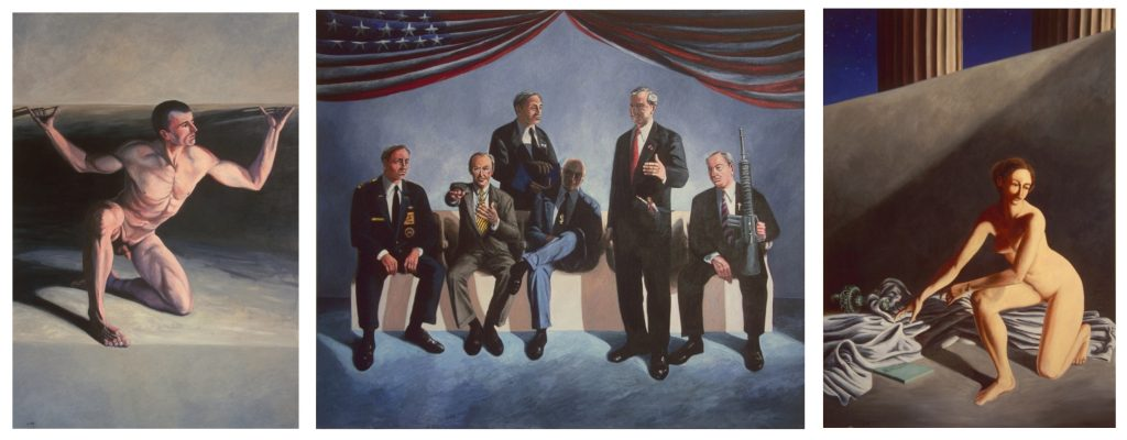 Triptych of Bush cabinet and exploited