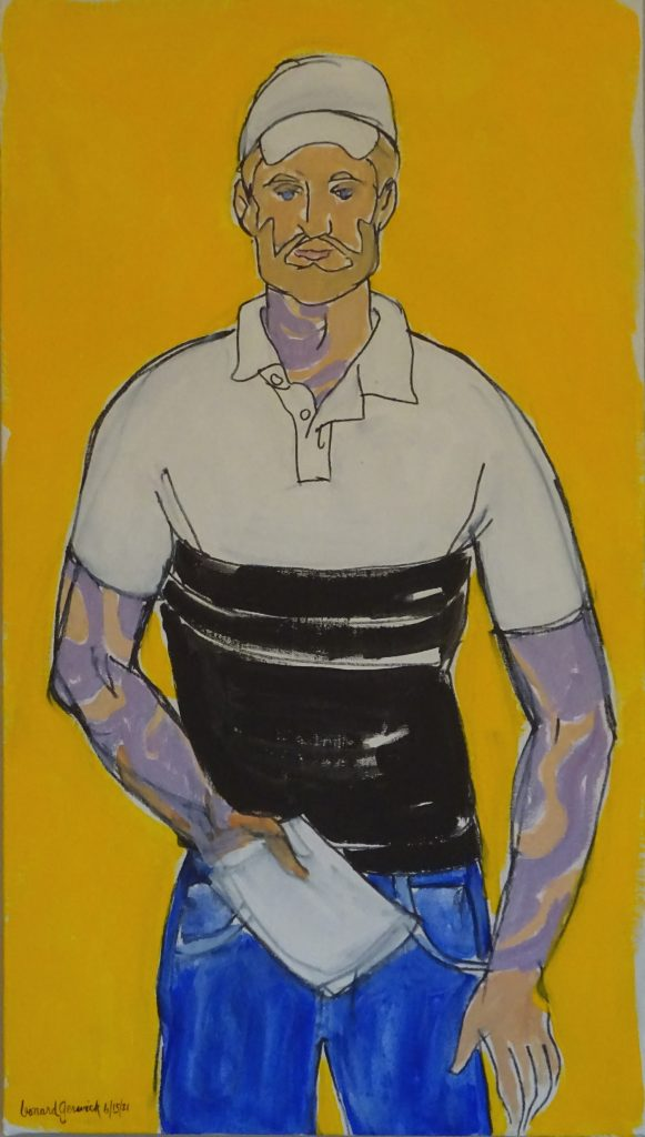 Fifure painting of a man by New England artist