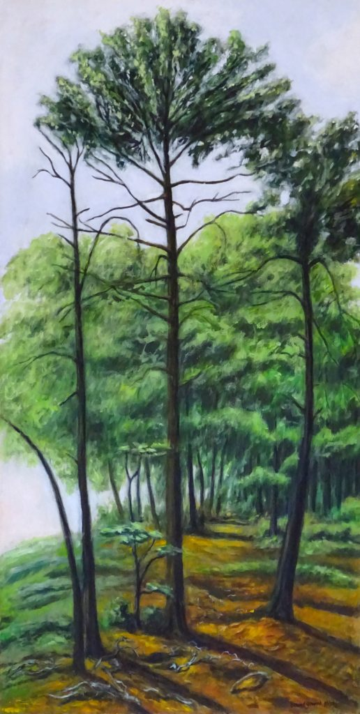 Entering a Hemlock forest by New England artist, Leonard Gerwick